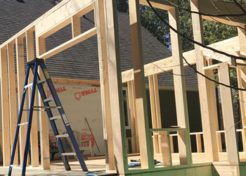 construction walls of addition